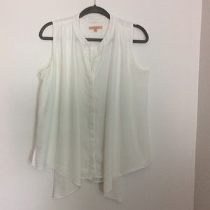 Gibson Latimer Off-White Draped Top Size M